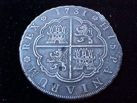 Spanish Silver 1731 8 REALES, Madrid, JF, PHILIP V, #1222 Colonial Coins