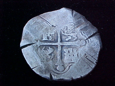 Spanish New World Silver 8 Reales COB, MEXICO, P, PHILIP IV, #1226 From The Shipwreck CONCEPCION 1641