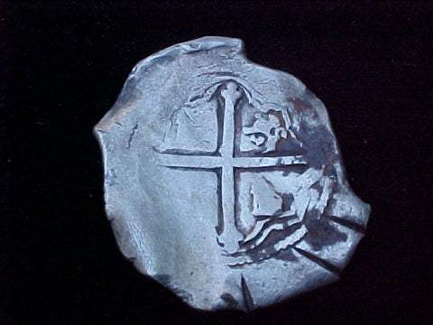 Spanish New World Silver 8 Reales COB, MEXICO, PHILIP IV, #1227 From The Shipwreck CONCEPCION 1641