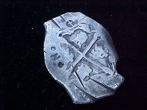 Spanish New World Silver 8 Reales COB, MEXICO, PHILIP IV, #1234 From The Shipwreck CONCEPCION 1641