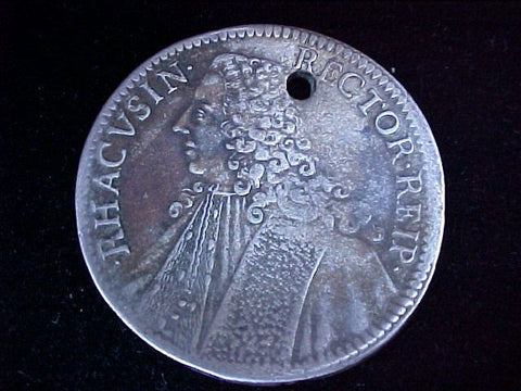 European Silver 1757 CROWN, RHACUSIN. RECTOR, #1244 Colonial Coins