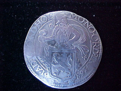 Spanish/Netherlands Silver 1589 DUCTOON, #1257 Colonial Coins