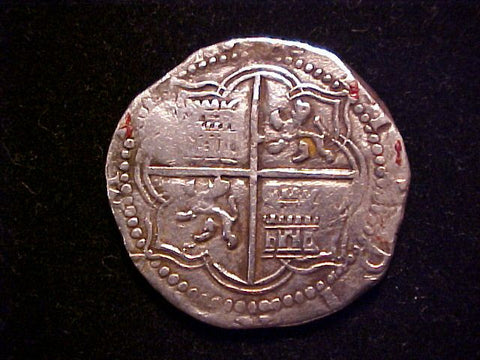 Spanish New World Silver, POTOSI, A, 4 Reales COB, PHILIP II, #1270 Colonial Coins