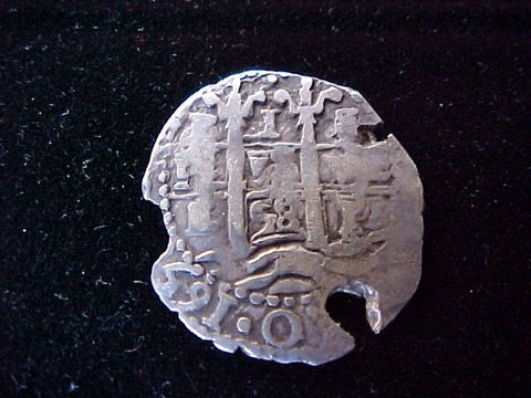 Spanish New World (3) Dates 1658, Silver 1 Reale PILLAR & WAVE TYPE COB, POTOSI, E, PHILIP IV, #1302 Colonial Coins