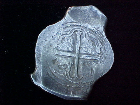 Spanish New World Silver 8 Reales COB, MEXICO, P, PHILIP IV, #1310 From The Shipwreck CONCEPCION 1641
