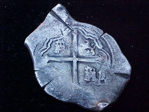 Spanish New World Silver 8 Reales COB, MEXICO, P, PHILIP IV