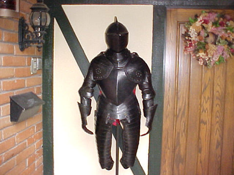 A Wonderful Italian 3/4 Black Suit of Armour, In The Style of Circa. 1620 #1335