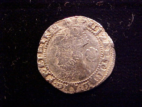 English Old World Hammered Silver 3 PENCE Dated 1573, Elizabeth I, #1337 Colonial Coins