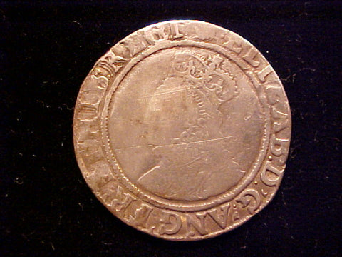 English Old World Hammered Silver SHILLING, Elizabeth I, #1351 Colonial Coins