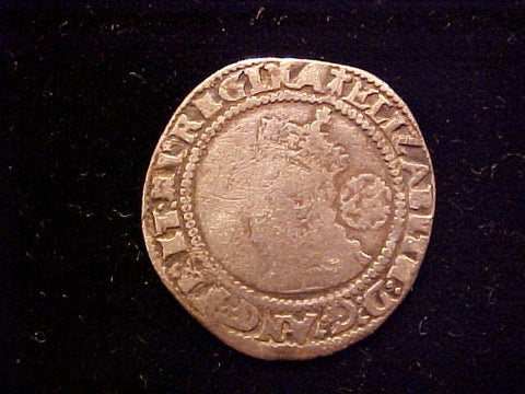 English Old World Hammered Silver 6 PENCE Dated 1572, Elizabeth I, #1352 Colonial Coins