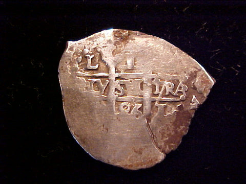 Spanish New World Silver 1 Reale COB, LIMA, R, (2) Dates of 1686, Charles II, #1371 1715 PLATE FLEET