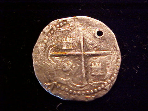 Spanish New World Silver, 1 Reale COB, POTOSI. Philip II-III, #1372 Colonial Coins