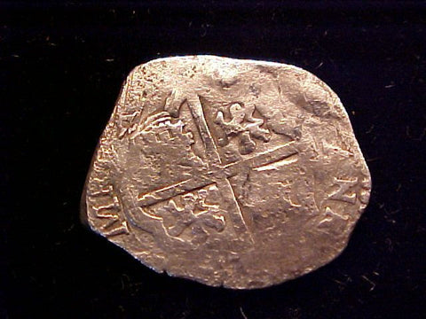 Spanish Old World Silver 2 Reales COB, Seville, B ?, Charles II. #1376 Colonial Coins