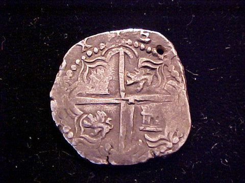 Spanish New World Silver, 2 Reale COB, POTOSI, R, Philip II-III, #1380 Colonial Coins