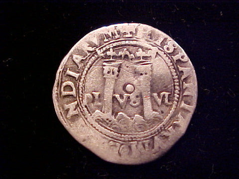 Spanish New World Carlos-Juana Silver 1 Reale, MEXICO CITY, O, #1404 Colonial Coins