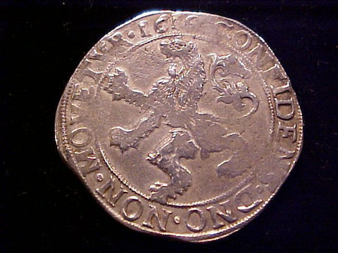 Spanish/Netherlands Silver CROWN, ZWOLLE Lion Daalder 1616 DUCTOON, #1407 Colonial Coins