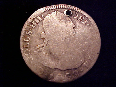 Spanish New World Silver 1802 Bolivia, 2 Reales, CAROLUS IIII, PORTRAIT SCREW PRESS, #1433 Colonial Coins