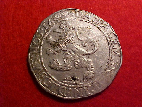 Spanish/Netherlands Silver CROWN, ZWOLLE Lion Daalder 1646 DUCTOON, #1470 Colonial Coins