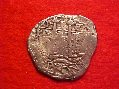 Spanish New World Silver 1 Reale Cob Dated 1661, Potosi, Philip IV, E, #1541 Colonial Coins