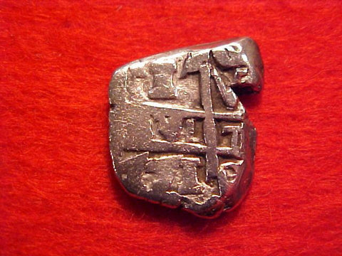 Spanish New World Silver 1 Reale Cob Dated 1771, Potosi, Charles III, #1544 Colonial Coins