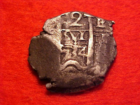 Spanish New World PILLAR & WAVE TYPE Silver 2 Reales COB Dated 1734, POTOSI, E, PHILIP V (2nd PERIOD), #1558 Colonial Coins