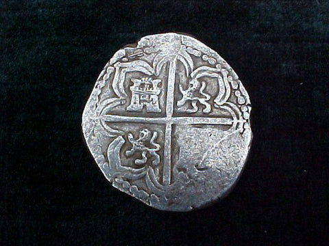 Spanish Old World Silver 4 Reales COB, SEVILLE, SPAIN, PHILIP II-III. #1757 Colonial Coins