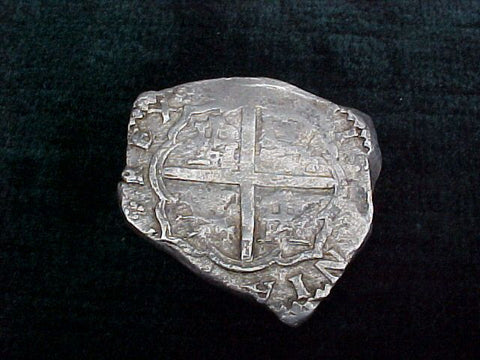 Spanish Old World Silver 4 Reales COB, TOLEDO, SPAIN, PHILIP II-III. #1768 Colonial Coins