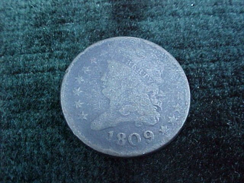 US 1809 Half Cent, #1779 Early US Coins
