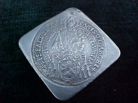 Silver 1/4 Taler KLIPPE, Paris(of Londron), Dated; 1642, SALZBURG, #1780 Colonial Coins