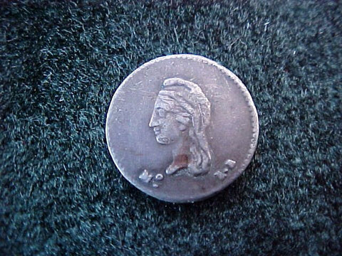 Spanish New World Silver 1/4 Reale, Federal Period, Dated 1843, MEXICO , LR. #1794 Colonial Coins