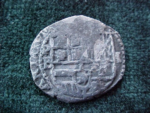 New World Spanish Silver 1 Reale COB, POTOSI, B, Philip II/III, #1825 Colonial Coins