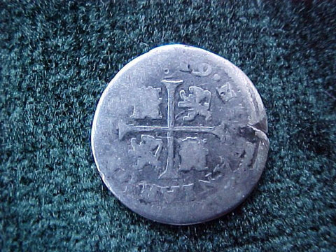 Spanish Old World Silver 1719, CATALUNA, SPAIN, A, 1/2 Reales, #1833 Colonial Coins
