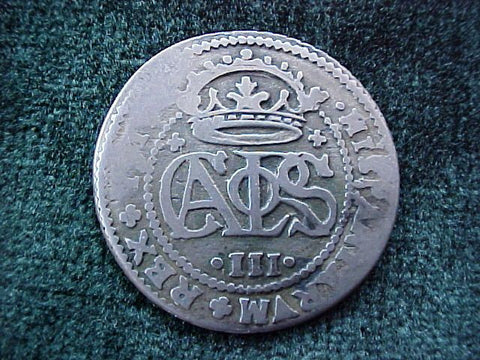 Spanish Old World Silver 2 Reales Dated 1711, CARLOS III, Spain, #1843 Colonial Coins