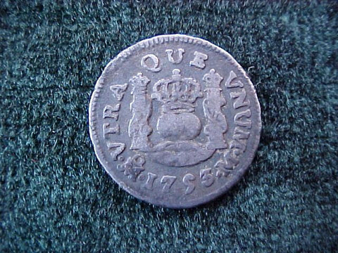 Spanish New World Silver 1753, MEXICO, M, 1/2 Reales PILLAR, #1844 Colonial Coins