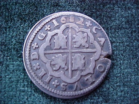 Spanish Old World Silver 2 Reales Dated 1682, CARLOS II, Segovia, M, #1855 Colonial Coins