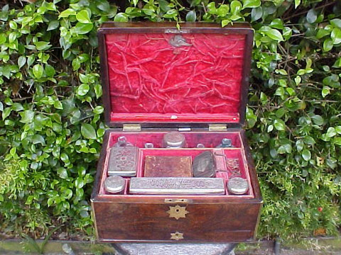 English William IV-Queen Victoria Period Personal Traveling Set, #1876 Militaria