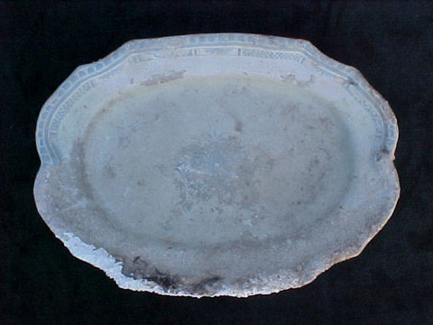 Porcelain Platter, Large Blue and White INTACT, #1892 Treasure Artifacts