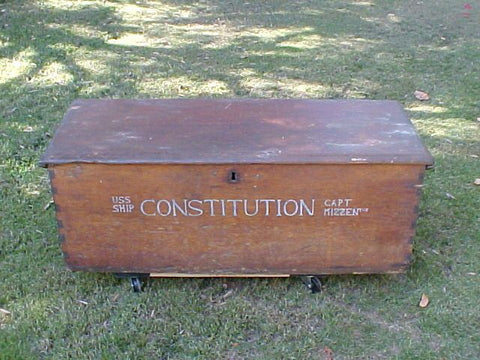 American Sea Chest; USS. SHIP CONSTITUTION, #1905 Nautical Antiques