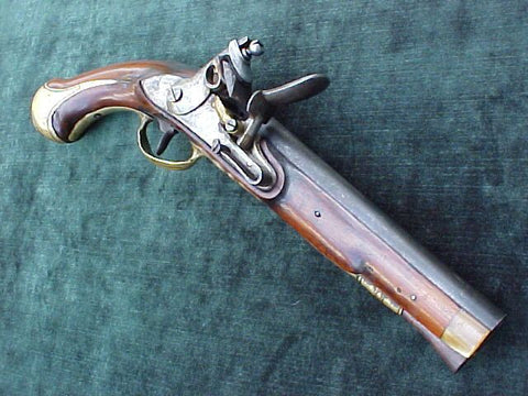 German or Dutch/American Colonial Flintlock Pistol, #1961 Firearms