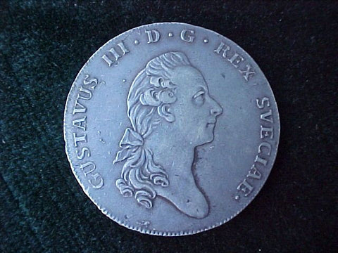 1777 Dated Silver CROWN GUSTAVUS III, #2025 Colonial Coins