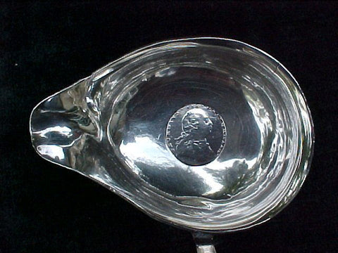 18th Century English Silver Ladle Inset w/King George III Silver Six Pence Dated 1787, w/ Twisted Whale Baleen Handle, #2073 Antiquery