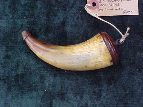 American Colonial Powder Horn