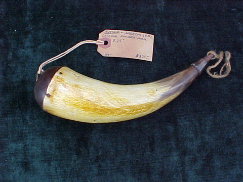American Colonial Powder Horn, #2096 Powder Flasks