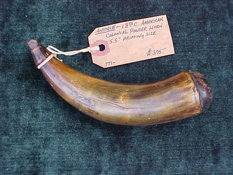 American Colonial Powder Horn, #2104 Powder Flasks