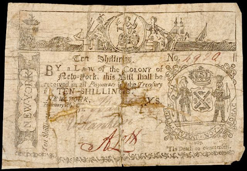February 16, 1771 Contemporary Counterfeit on the Colony of New York, #2278 Colonial Currency