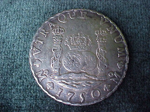 Spanish New World Silver 1750 MEXICO, MF, 8 Reales PILLAR SCREW PRESS, #2380 Colonial Coins