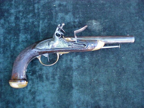 French Le Pistolet D'Officer Model 1816 Flintlock Pistol, #2430 Firearms