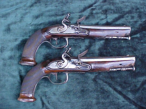 A Good (PAIR) of French Empire Period Flintlock Pistols, #2431 Firearms