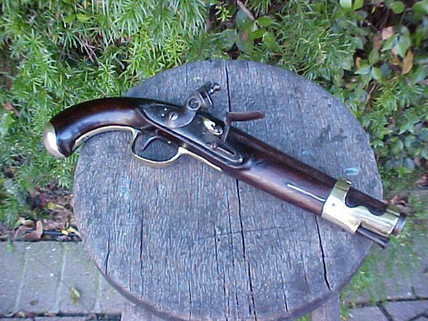 French Napoleonic Wars Military 'YEAR 9' Flintlock Service Pistol, #2481 Firearms