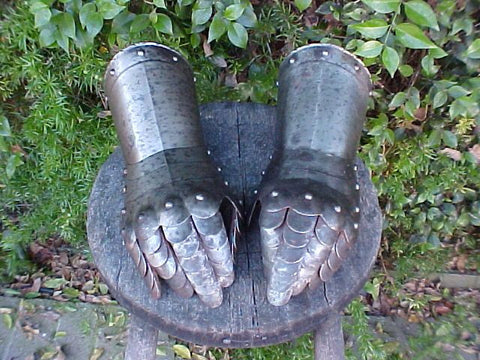 Victorian COPY (PAIR) of Gauntlets in the style of the 17th Century #2496